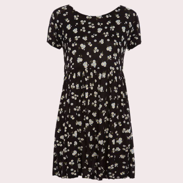 Picture of Flower Design Casual Dress