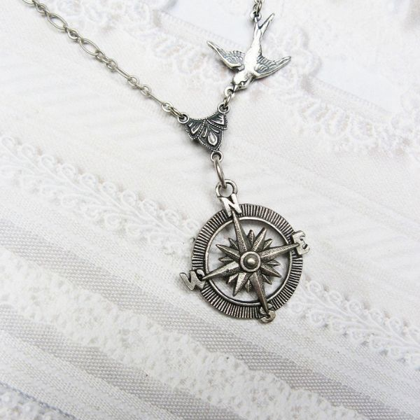 Picture of Silver Compass Necklace